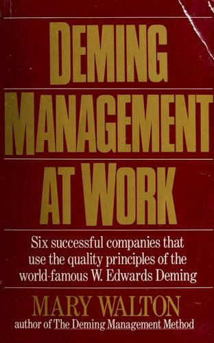 Download Deming management at work