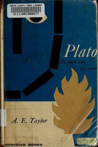 Plato: the man and his work.