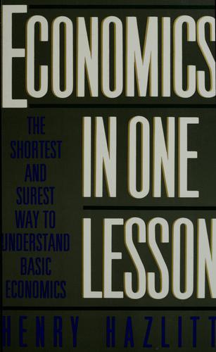 Download Economics in one lesson