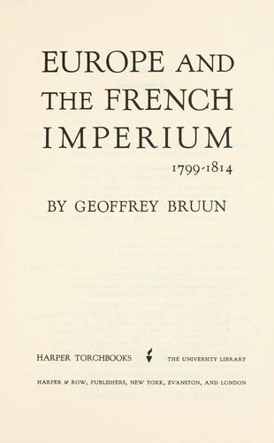 Download Europe and the French imperium, 1799-1814