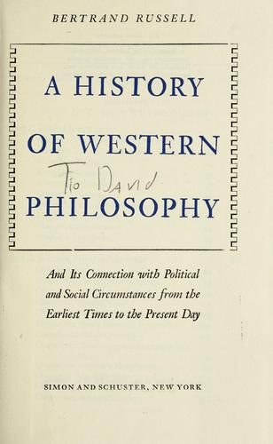 Download A history of western philosophy