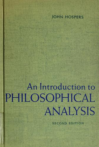 An introduction to philosophical analysis.