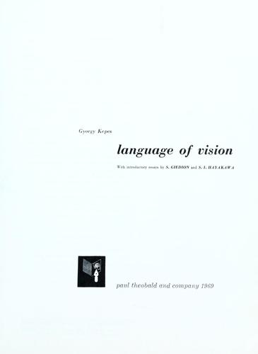 Download Language of vision