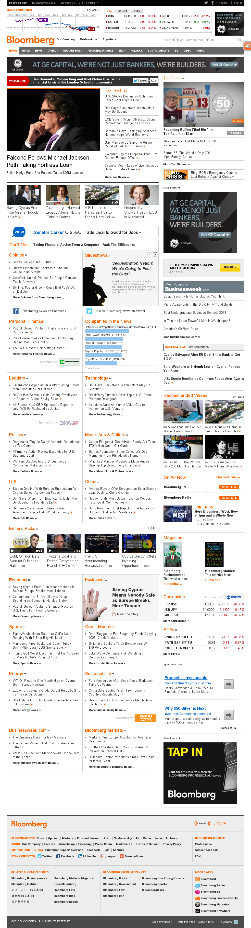 Bloomberg at Monday March 25, 2013, 7:03 p.m. UTC
