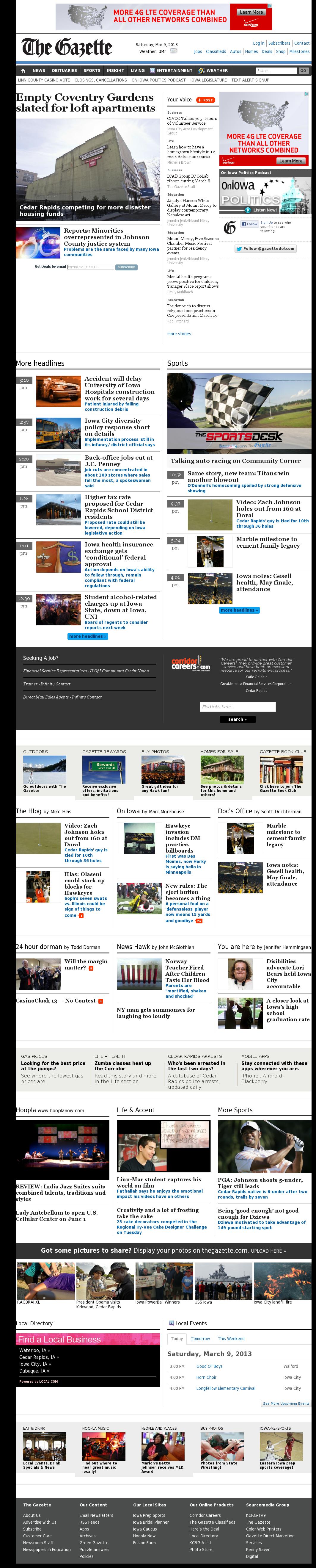 The (Cedar Rapids) Gazette at Saturday March 9, 2013, 7:06 a.m. UTC