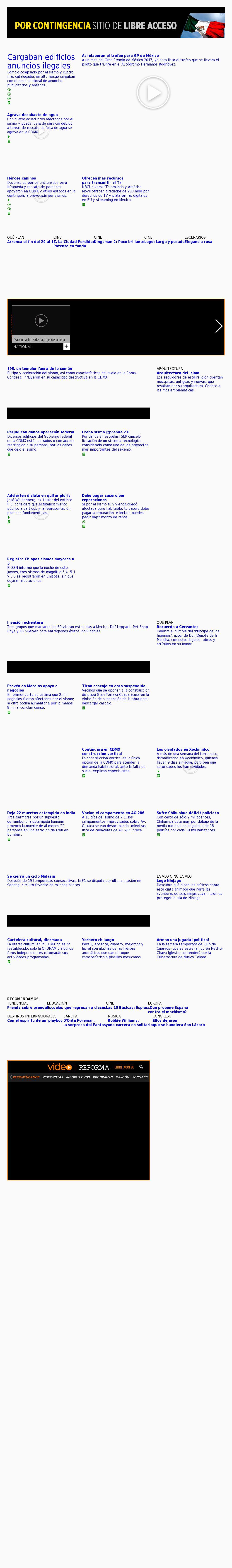 Reforma.com at Friday Sept. 29, 2017, 11:13 a.m. UTC