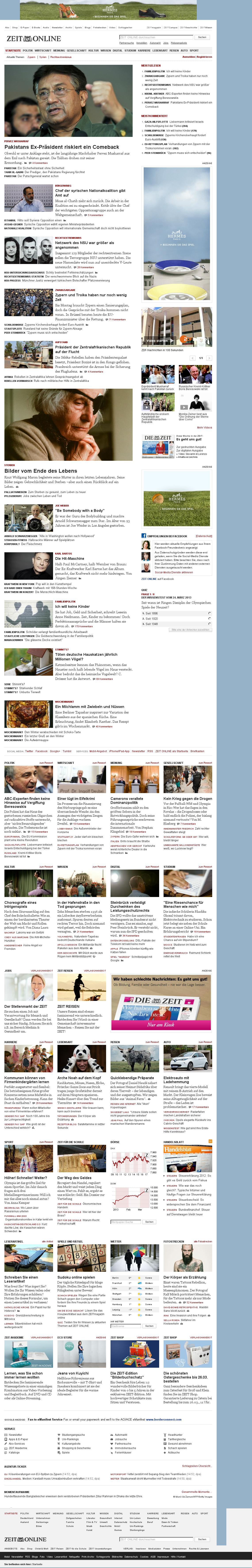 Zeit Online at Sunday March 24, 2013, 1:57 p.m. UTC