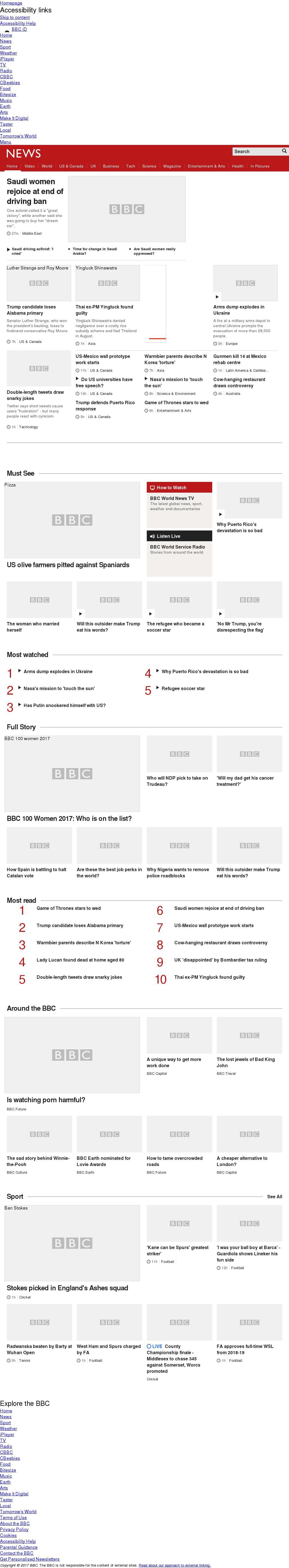 BBC at Wednesday Sept. 27, 2017, 11:01 a.m. UTC