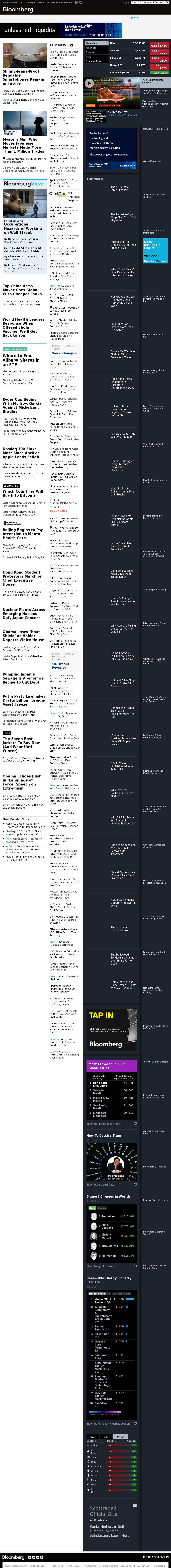 Bloomberg at Friday Sept. 26, 2014, 2 a.m. UTC