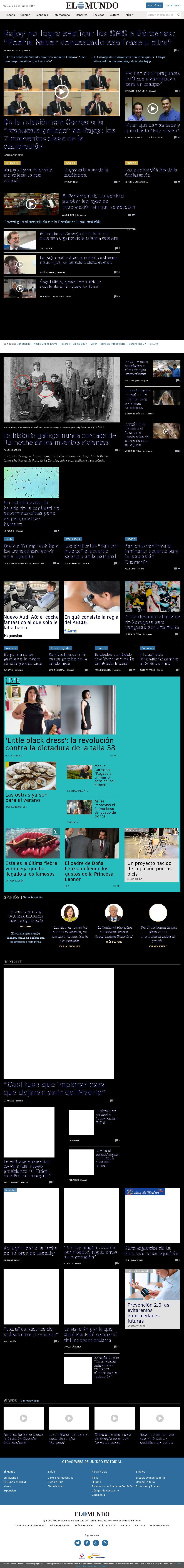 El Mundo at Wednesday July 26, 2017, 7:16 p.m. UTC