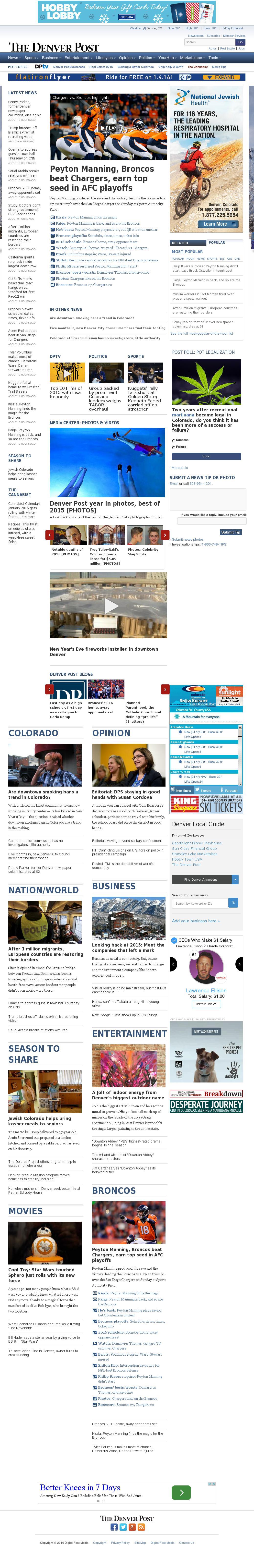 Denver Post at Monday Jan. 4, 2016, 10:06 a.m. UTC
