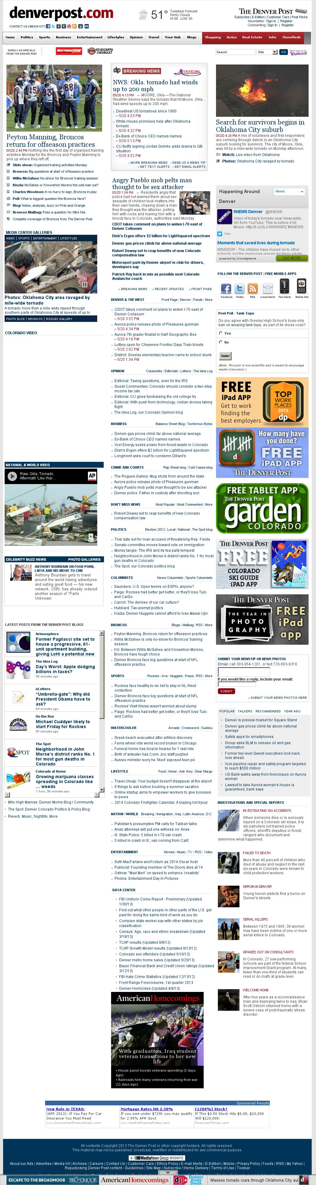 Denver Post at Tuesday May 21, 2013, 12:05 a.m. UTC