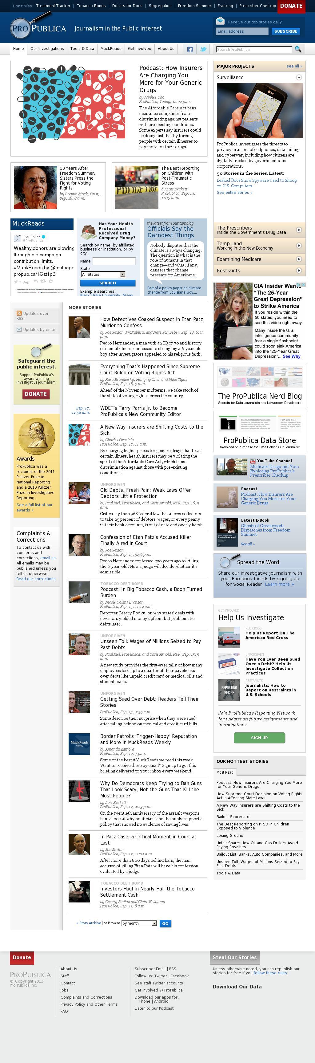 ProPublica at Tuesday Sept. 23, 2014, 1:16 a.m. UTC
