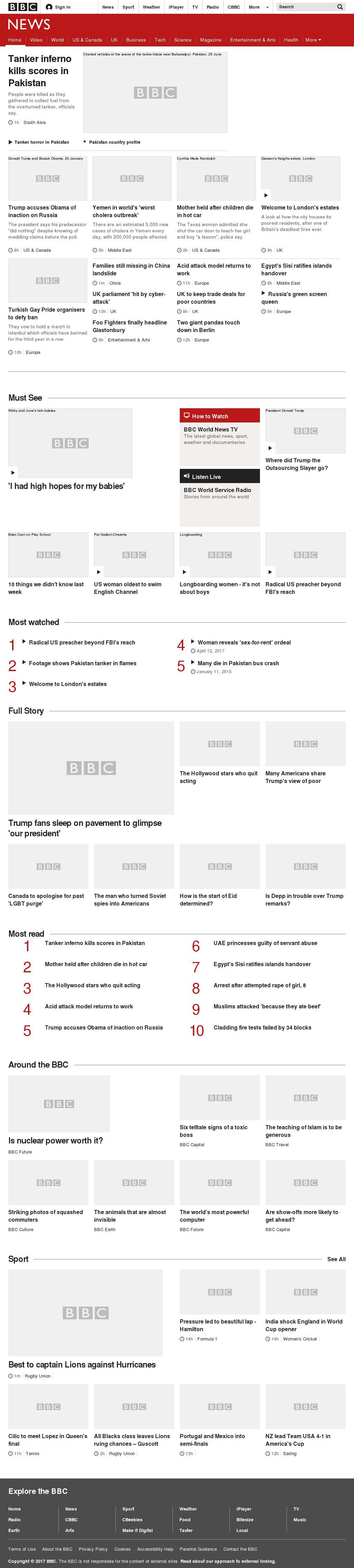 BBC at Sunday June 25, 2017, 8 a.m. UTC