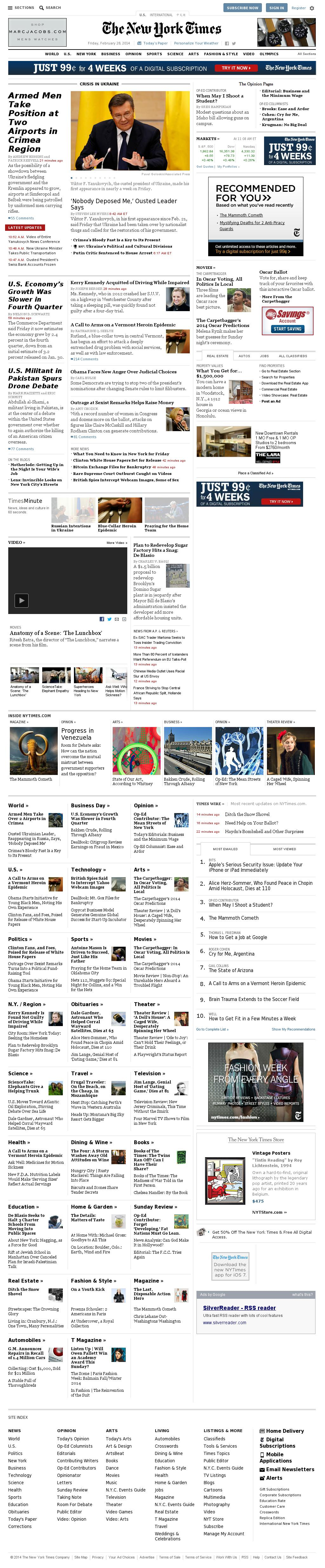The New York Times at Friday Feb. 28, 2014, 4:12 p.m. UTC