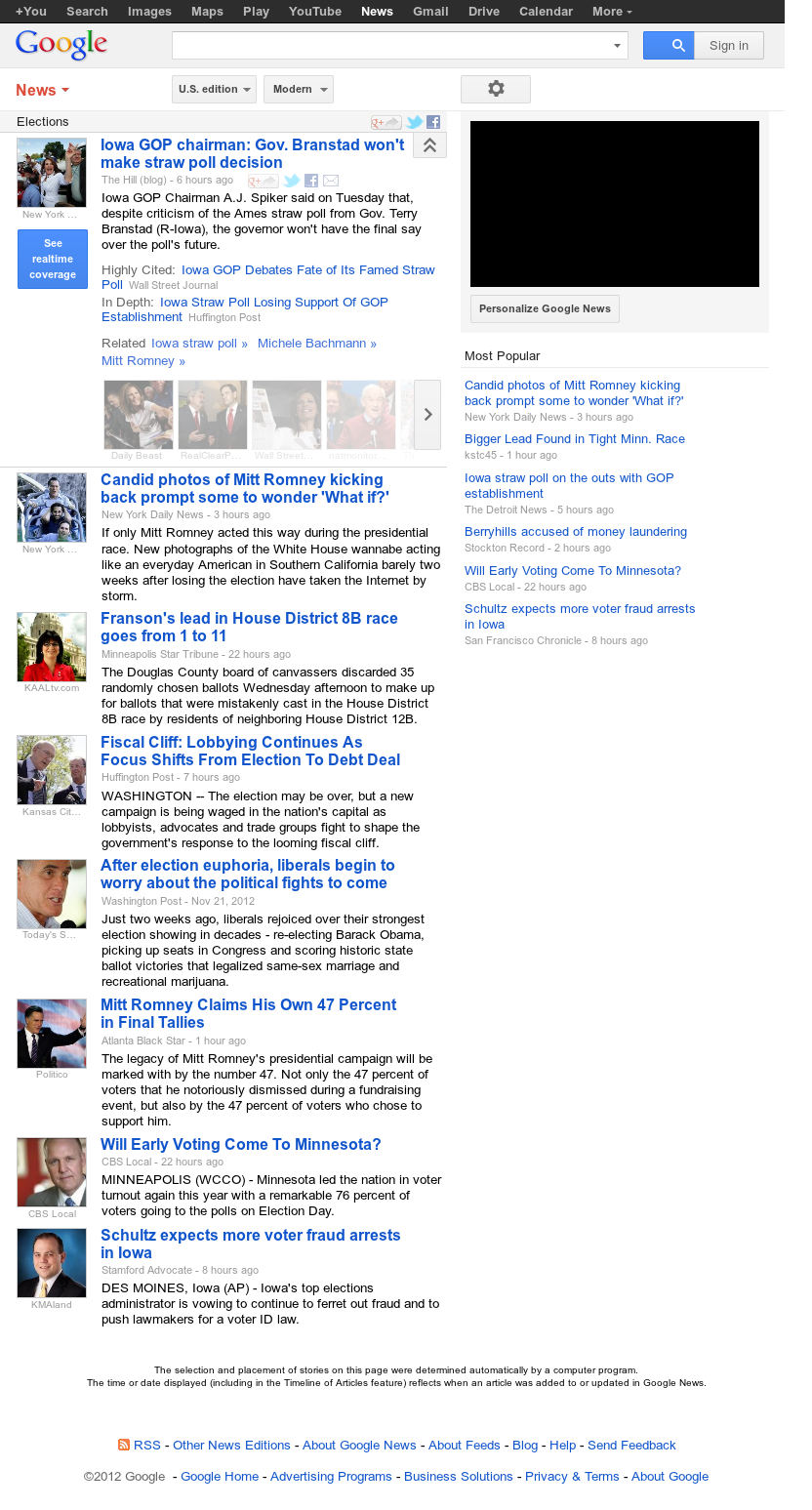 Google News: Elections at Thursday Nov. 22, 2012, 11:12 p.m. UTC