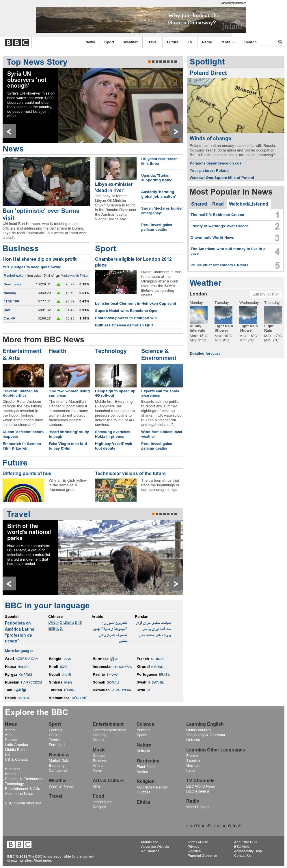 BBC at Monday April 30, 2012, 5 a.m. UTC