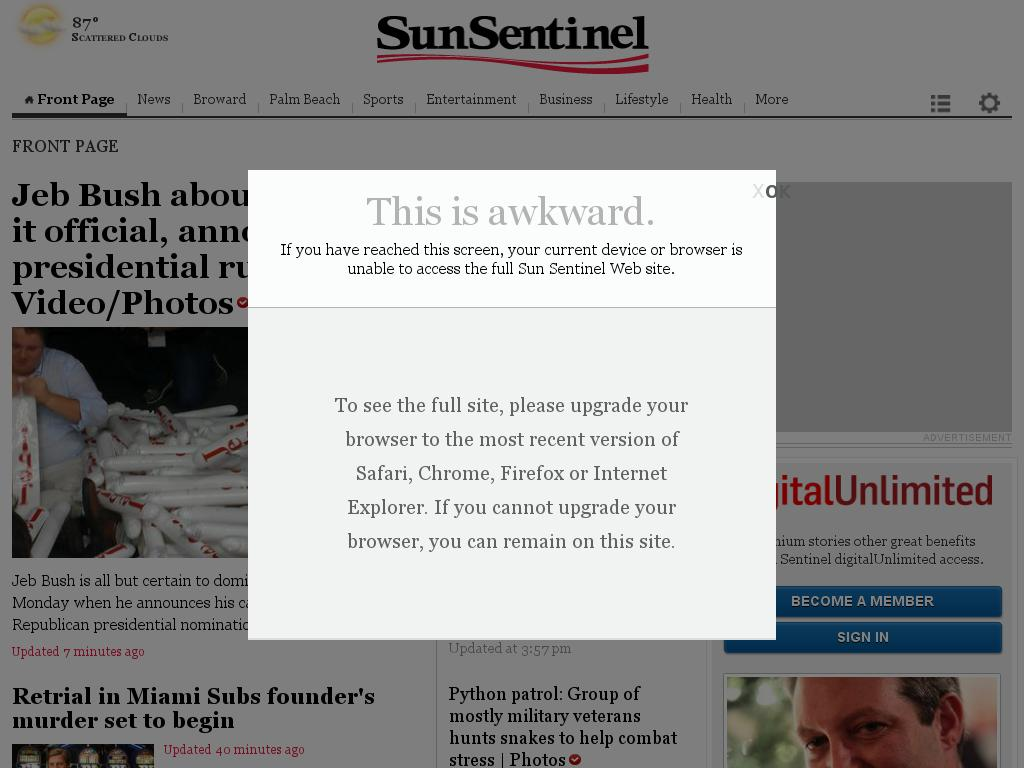 (Florida) Sun Sentinel at Monday June 15, 2015, 5:27 p.m. UTC