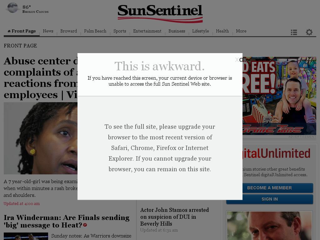 (Florida) Sun Sentinel at Saturday June 13, 2015, 8:28 p.m. UTC