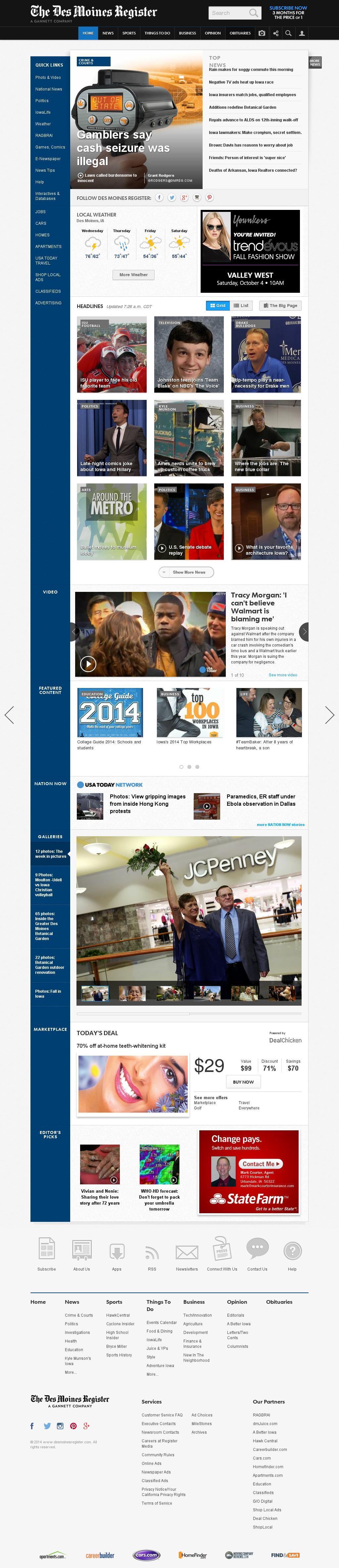 DesMoinesRegister.com at Wednesday Oct. 1, 2014, 1:03 p.m. UTC