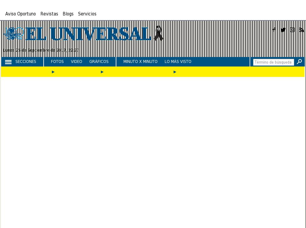 El Universal at Tuesday Sept. 26, 2017, 3:29 a.m. UTC