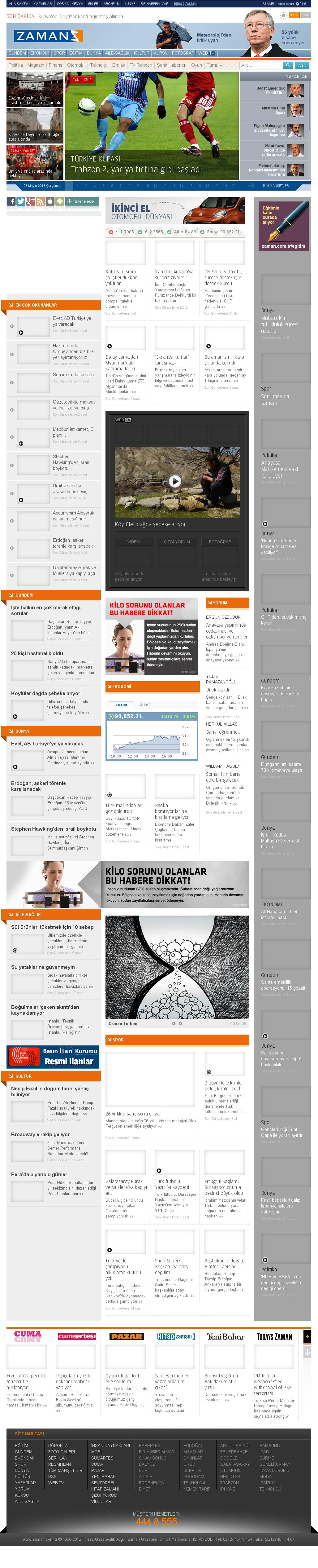 Zaman Online at Wednesday May 8, 2013, 5:32 p.m. UTC