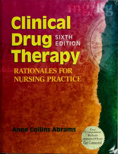 Clinical drug therapy by Anne Collins Abrams