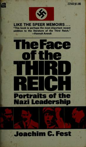 The Face of the Third Reich by Joachim Fest