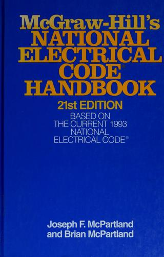 McGraw-Hill's National Electrical Code handbook by Brian J. McPartland