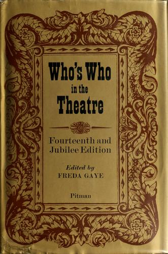 Who's who in the theatre by John Parker
