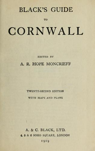 Black's guide to Cornwall by Adam and Charles Black (Firm)