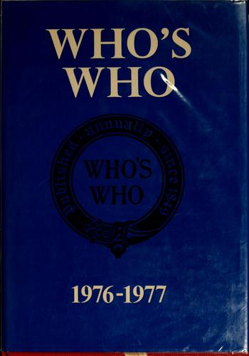 Who's who, 1976-1977 by
